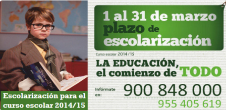 cartel escolarizacion 14_15